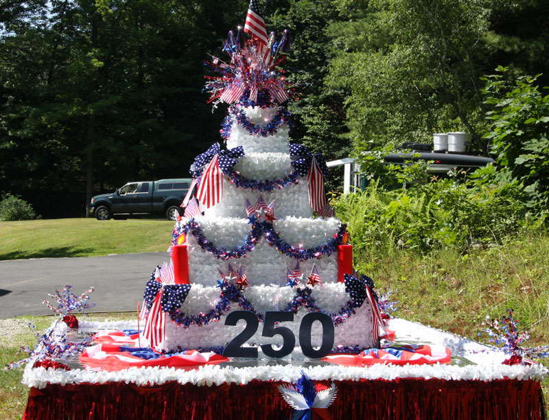 birthday cake in summerfest parade